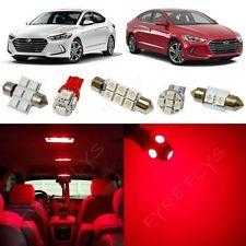 8x Red LED light interior package kit for 2017 & Up  Hyundai Elantra YE3R
