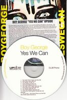 BOY GEORGE Yes We Can 2008 UK 11-track promo only CD Pete Heller Tom Stephan