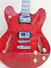 Caraya ES-335 Style Semi-Hollow Electric Guitar SEG-272DC Dark Cherry + Gig Bag