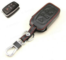 Leather Case Cover Holder For Land Range Rover Evoque Sport LR4 Remote Smart Key