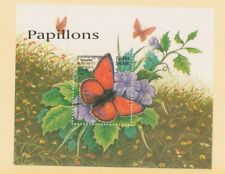 MayfairStamps 1999 Cambodia 1727 Butterfly and Flower Souvenir Sheet Mint Never