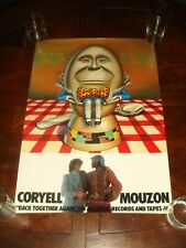 Rare LARRY CORYELL MOUZON Back Together Again 1977 ATLANTIC RECORDS PROMO POSTER