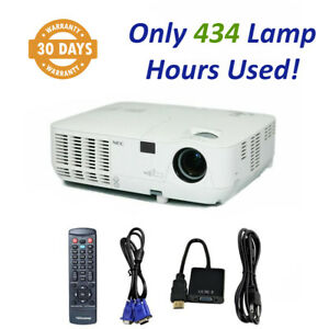NEC NP215 - DLP Projector 2500 ANSI HD HDMI w/Adapter - Only 434 OEM Hours Used!