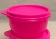 Tupperware Neon Pink Ideal Bowl Snack Cup ~ Perfect for School ~ BPA-Free New