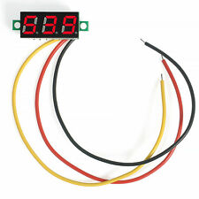 3-Digital Diaplay Mini DC 0-100V LED Voltage Voltmeter Panel Meter with 3 Wires