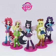 Set of 5 pcs Mini My Little Pony Girls Pegasus Apple Jack 6cm PVC Figure Loose #