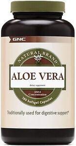 GNC Natural Brand Aloe Vera Gel, 180 Softgels