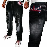 Kosmo Herren Jeans Designer Hose Cargo Style Blau Verwaschen Clubwear Lupo KM444