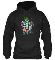 Sea Turtle Graphic Gildan Hoodie Sweatshirt