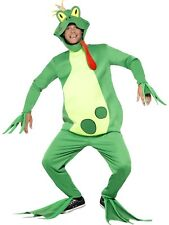 Frog Prince Charming Adult Mens Fairytale Costume Book Week Animal Green Fancy D