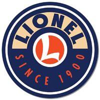 Lionel Logo Round Metal Tin Sign Wall Art