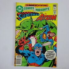 Dc Comics Superman and The Atom #15 Plight of the Giant Atom! 1979