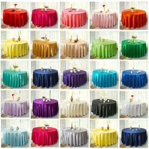 57'' Plain Square Satin Tablecloth / Linen 10 Colors Table Protector for Wedding