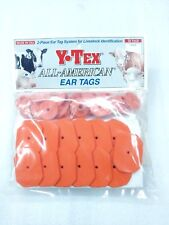 Y-Tex Swine Star 2-Piece Livestock Ear Tags Pig Hog 25 Pack Orange 5703 Blank