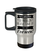 Plumber Travel Coffee Mug | Funny Plumbing Collectibles | Stainless Steel Gift