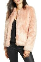 Chelsea28 Faux Fur Jacket in Pink Misty Size Small New with Tags