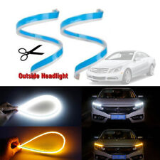 """18"""" Flexible Switchback Sequential Flash LED Strip Lights For Headlight Retrofit"""