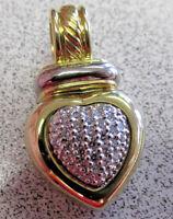 David Yurman .35 ctw VVS Diamond Heart Pendant or Enhancer 18k Gold   Make Offer