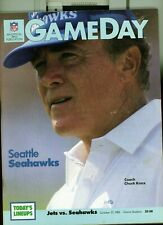 1985 10/27 football program  NEW YORK GIANTS SEATTLE SEAHAWKS GIANT STADIUM