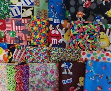 Candy M & M's Gummy Worms Sprinkles Jelly Beans RARE OOP FAT QUARTER Craft Quilt