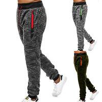 Men's Fitness Elastic Sweat Pants Joggers Slim Causal Sport Gym Jogging Trousers