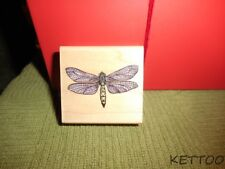NWOT HERO ARTS 2001 Wood Mounted Rubber Stamp POETIC DRAGONFLY Suggests Color