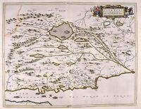 MAP ANTIQUE 1654 SCOTLAND BLAEU FIFE WEST OLD LARGE REPLICA POSTER PRINT PAM0123