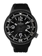 POSEIDON Herren-Armbanduhr XL Slim Analog Silikon UP00387 Schwarz UVP 139,- €