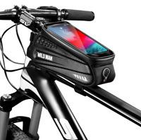 WILD MAN MTB Road Bike Fron Frame Bag Waterproof Phone Holder Hard Shell Bag