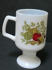 Spice of Life Milk mugs pedestal coffee cups mushroom corning ware corelle glass