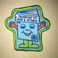 Passport to Fun & Fitness Patch - Girl Guides - Canada