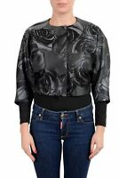 Viktor & Rolf Women's Jacquard Three Button 3/4 Sleeve Cropped Blazer US S IT 40