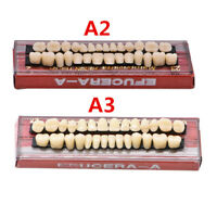 28pc Dental Acrylic Resin Teeth Denture Full Set Upper Lower Shade 22# 23# A2 A3