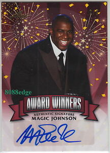 2014 POP CENTURY AWARD WINNERS AUTO: MAGIC JOHNSON #2/5 AUTOGRAPH 12x ALL-STAR