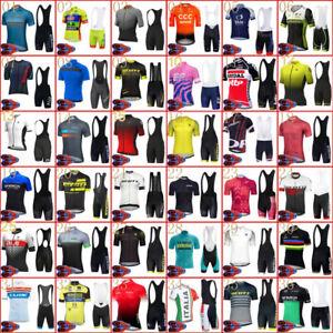 New Mens Cycling Jersey Bib Shorts Set Bike Uniform Bicycle Short Sleeve Outfits