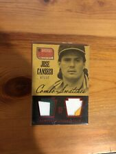 2013 Jose Canseco America's Pastime DUAL PATCH /10 - JC Oakland A's