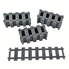 18X Straight Trains Rail Non-Powered Rail for Lego Train Tracks Track Railroad C