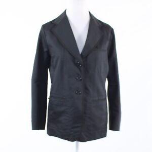 Black 100% cotton SONIA RYKIEL long sleeve blazer jacket FR42 12