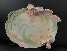 Franz porcelain grand plateau-windswept beauty iris FZ00845 neuf
