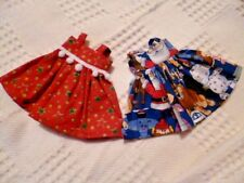 BJB dolls clothes SALE Two Christmas dresses to fit BJD Littlefee or Lalaloopsie