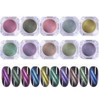 Cat Eye Magnetic Nagel Pulver Glitzern Magnet Holo Nagel Kunst Pigment