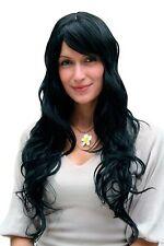 Perruque pour femmes,perruque,noir,cheveux longs,Pony,Postiche,env. 65 cm,