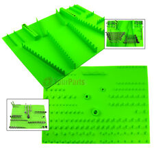 Socket and Wrench Organizer Holder Tray Grip Tool Green Set of 2 Pair Kit
