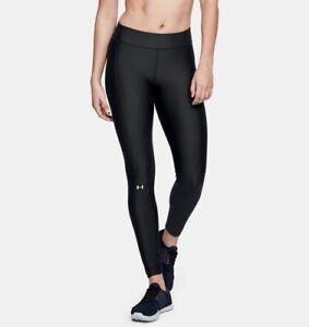 Under Armour Ladies Heatgear Compression Leggings Lightweight Black Size Large