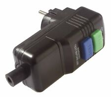 As-Schwabe Personenschutz-Stecker schwarz Sicherheitsstecker Elektro Neuware