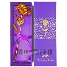 24K Gold Rose, Long Stem Real Rose Dipped in Gold with Gift Box, Best for Mom