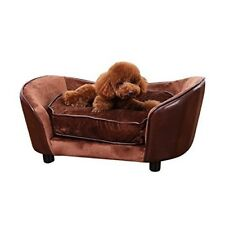 Pet Sofa Dog Bed Couch Cat Lounge Comfort Chair Luxury Cushion Puppy Nest Brown