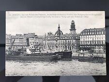 carte postale ancienne - ROUEN - Ancien Palais Des Consuls - Bateaux
