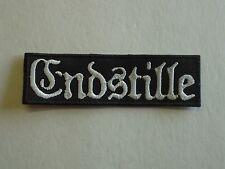 ENDSTILLE BLACK METAL EMBROIDERED PATCH
