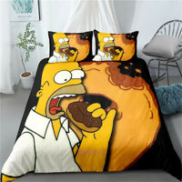 Duvet/Doona/Quilt Cover Set Homer J Simpson Single/Double/Queen/King Size Bed